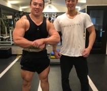 ボディビルダー井上さんとの合同トレーニング